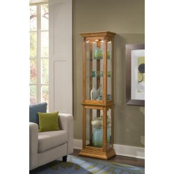 Estate Oak Narrow Curio Cabinet