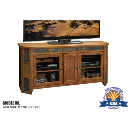 "Oak Creek 63"" Angled Media Console"
