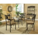 Carolyn Metal and Glass 5pc. Dining Set