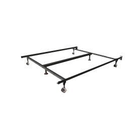 Queen/King Deluxe Insta-Lock Bed Frame with Rollers