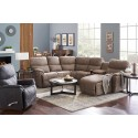 Trouper Reclining Sectional w/Chaise