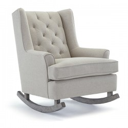 Paisley Wing Back Rocking Chair