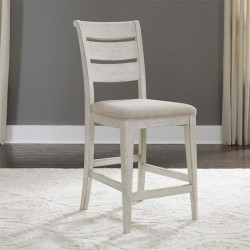 Farmhouse Reimagined Ladder Back Counter Chair