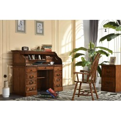 "Harvest Oak 54"" Roll Top Desk"