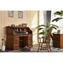 """Oak 54"""" Roll Top Desk"""