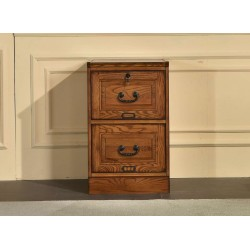 Two Drawer File Cabinet in Burnished Walnut