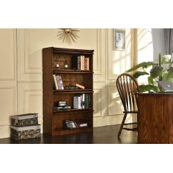 4-Door Barrister Bookcase in Burnished Walnut