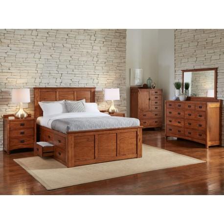 Mission Hill Oak Bedroom Collection, Cedar Hill Furniture