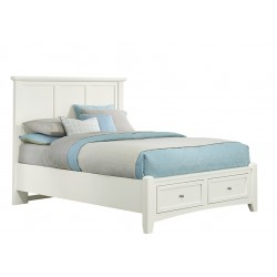 Bonanza Full Mansion Bed w/ Storage Footboard in White