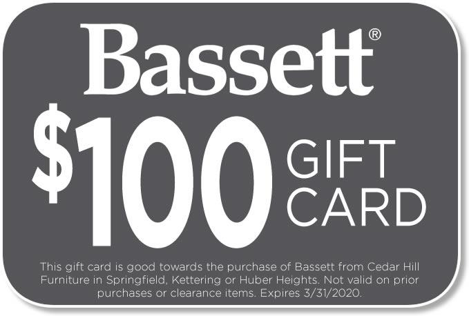 $100 Bassett Gift Card