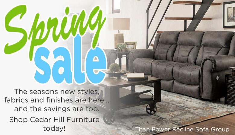 Cedar Hill Furniture Spring Reclining Furniture Sale