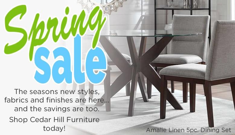 Cedar Hill Furniture Spring Dining Sale